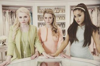 dress ariana grande scream queens pastel pastel dress headband preppy pastel green light blue pastel pink necklace