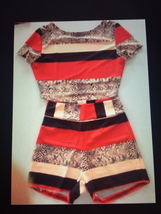romper two-piece shorts crop tops black crop top red dress style vintage dress