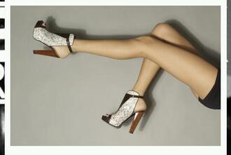 shoes heels snake print python