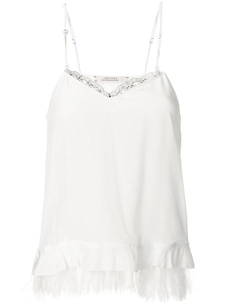 Dorothee Schumacher top women embellished white silk