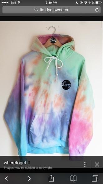 sweater tye dye hoodie