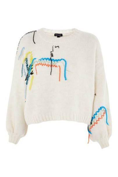 Topshop jumper embroidered sweater
