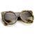 Womens Designer Fashion Super Bold Round Cat Eye Sunglasses 9278