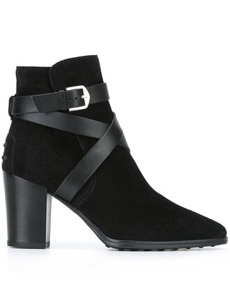 strappy boots ankle boots black shoes
