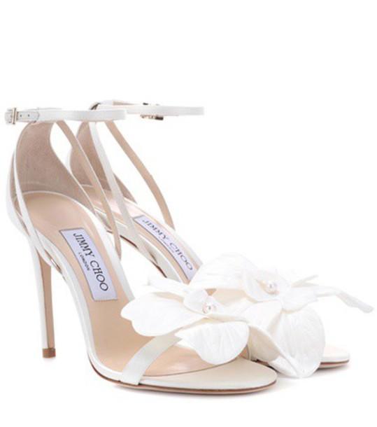 Jimmy Choo 100 sandals white shoes