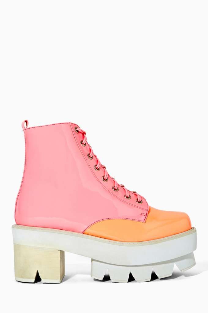Jeffrey Campbell Siglin Platform Boot - Glow | Shop Shoes at Nasty Gal