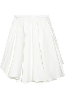 Band of Outsiders Pleated cotton and linen-blend skirt - 64% Off Now at THE OUTNET