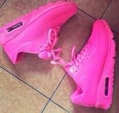 shoes,air max,air jordan,pink,pink jordan's,nike sneakers,sneakers,sneakers nike air max neon pink,neon pink,neon pink shoes,hot,nikes,nike air force,dream,nike,pink sneakers,girl sneakers,girly,nike roshe run,wonen