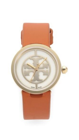 watch gold orange jewels