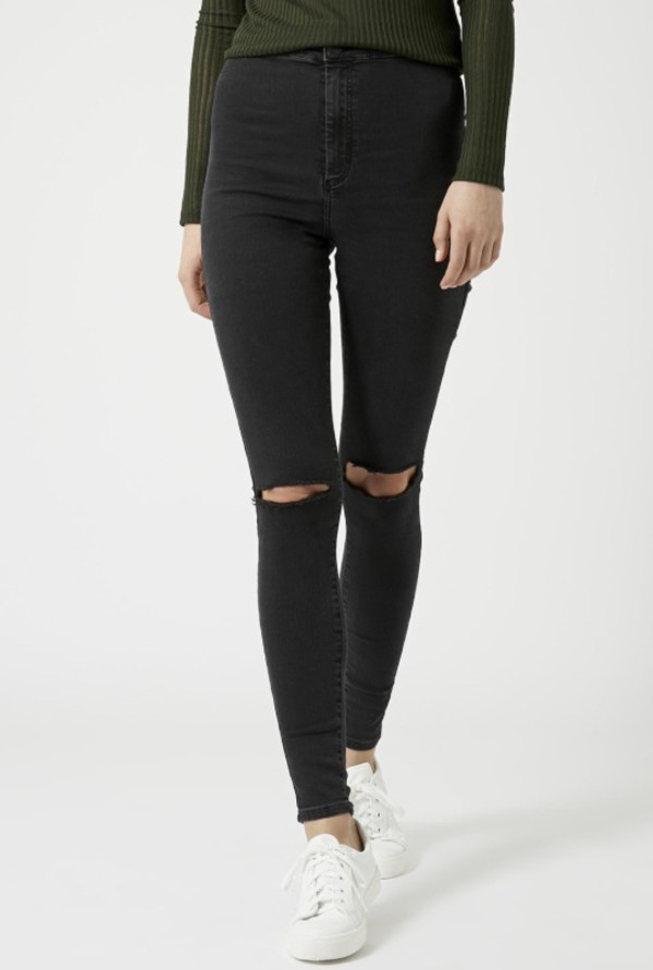 Images of Black Ripped Skinny Jeans For Women - Reikian