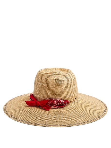Lola Hats hat straw hat print red