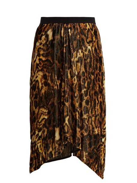 Isabel Marant skirt velvet skirt print velvet