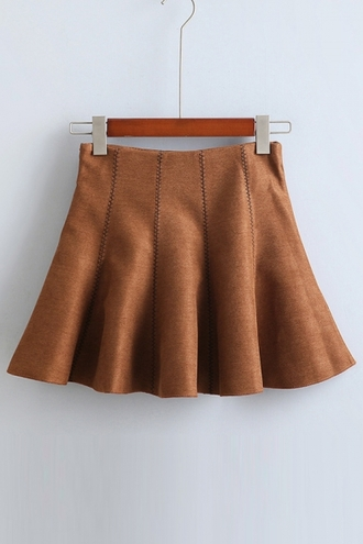 skirt brown cute fashion style fall outfits trendy beautifulhalo