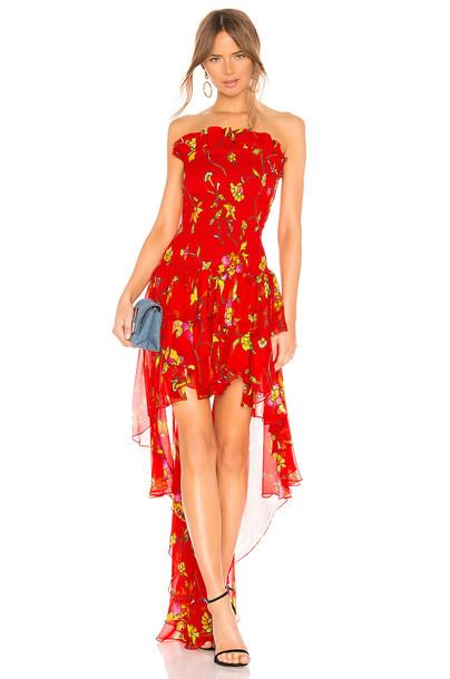 2e2daa79124 Caroline Constas Caroline Constas Lola Smocked Dress in red