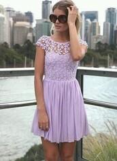 dress,purple lace dress
