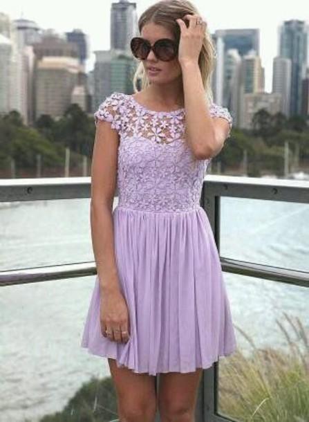 dress purple lace dress