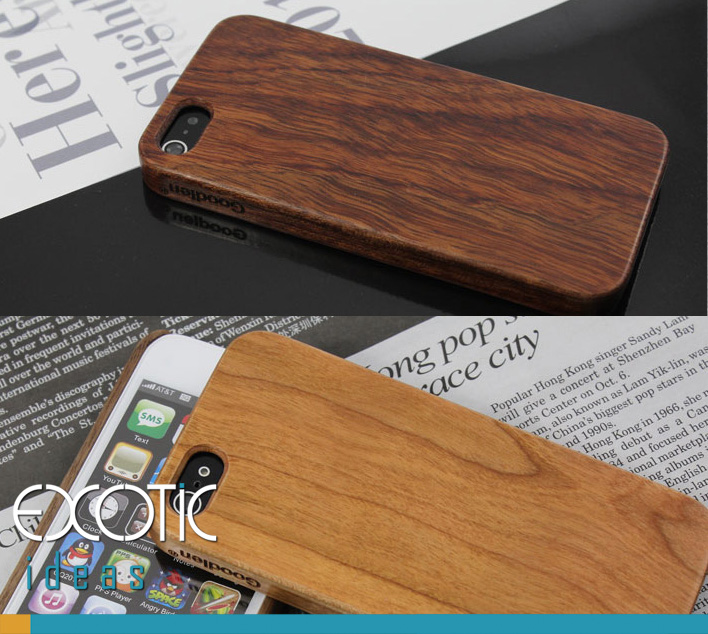 Goodlen Wooden iPhone 5 Case Skin -Handmade One Piece Wooden Cases, Walnut, Rosewood, White Maple, Cherry Wood, 4 Choises