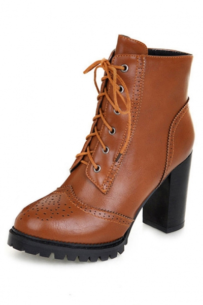 Up pu ankle booties