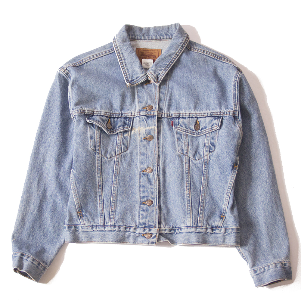 Levi's faded distressed levi's trcuker