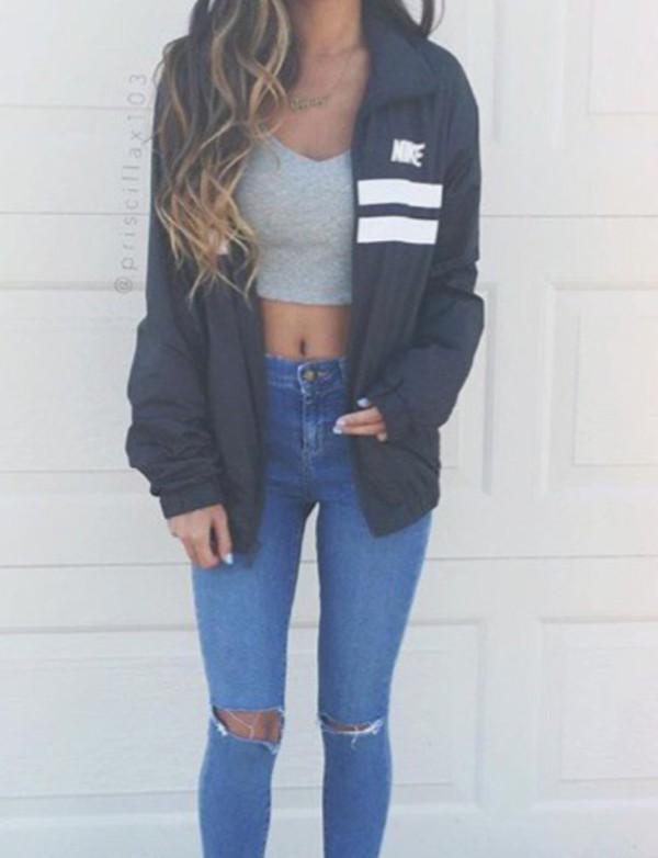 Jacket Nike Black White Men S Windbreaker Nike