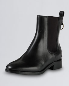 Cole Haan Evan Air Short Waterproof Leather Boot, Black - Neiman Marcus
