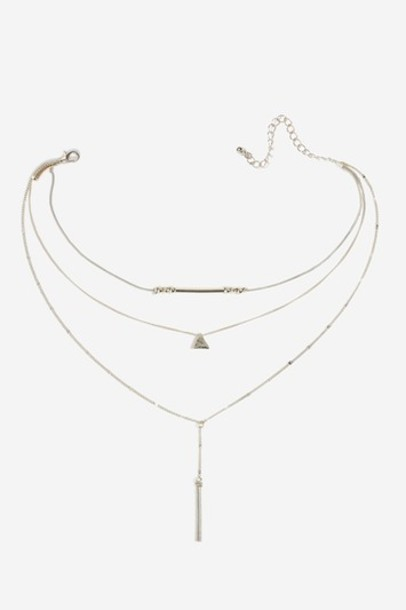 Topshop triangle necklace gold jewels