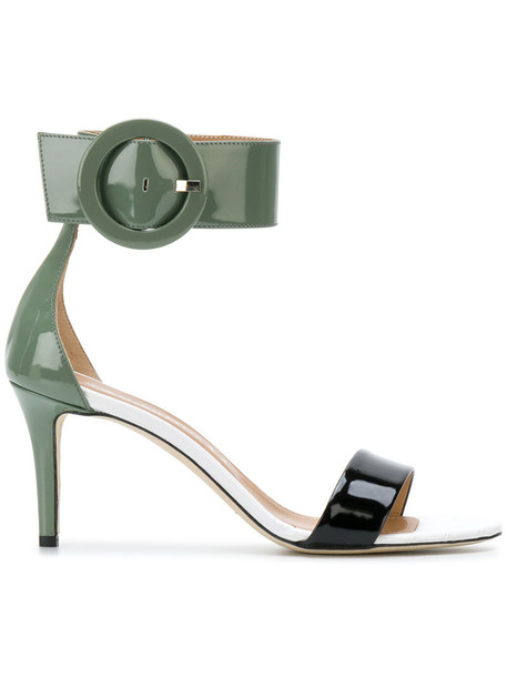 Marc Ellis oversized women sandals leather green shoes
