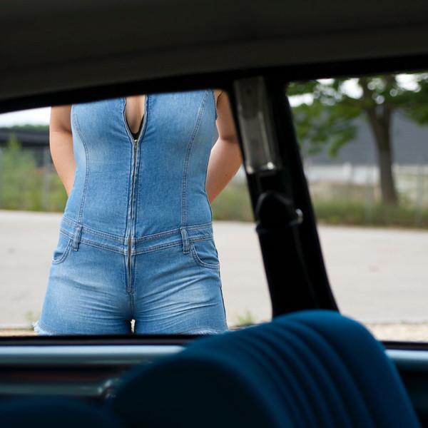 romper tight denim jeans shortalls short sleeveless