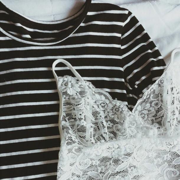 underwear lace lingerie white top