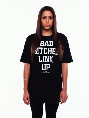 Classic Bad Bitches Link Up T-Shirt - Caviar Blaque
