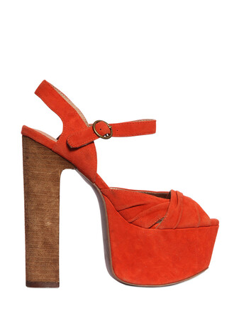 sandals suede orange shoes