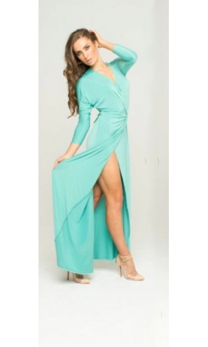 Cari Turquoise Wrap Buckle Dress