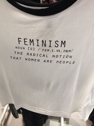 shirt clothes crop tops feminism quote on it