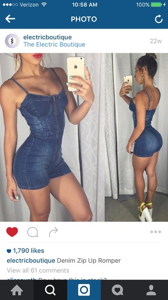 romper denim