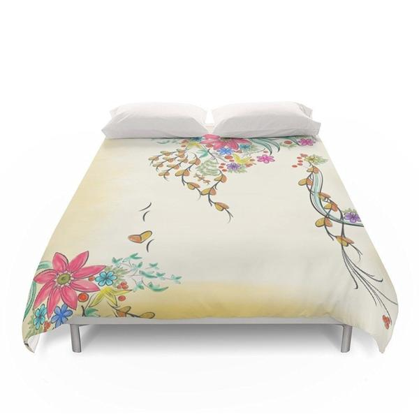 Shabby Chic Floral Duvet Cover