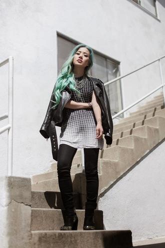 feral creature blogger dress jeans jewels shoes