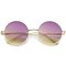 Ilaya retro round frame sunglasses in purple yellow fade at flyjane