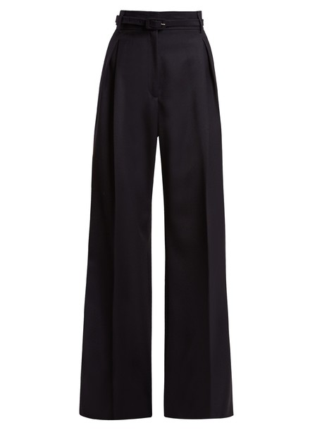 Gabriela Hearst wool navy pants