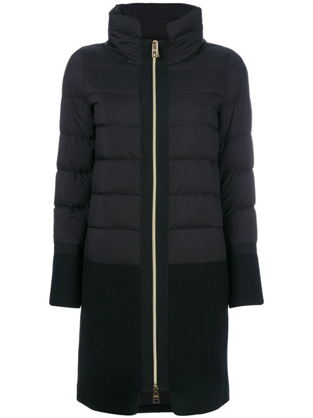 Herno coat women black wool