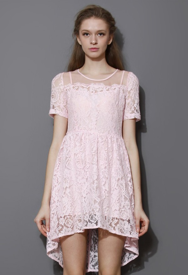 chicwish promise organza lace dress