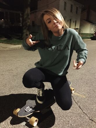 sweater sweatshirt jeans skateboard streetwear hoodie girl pants
