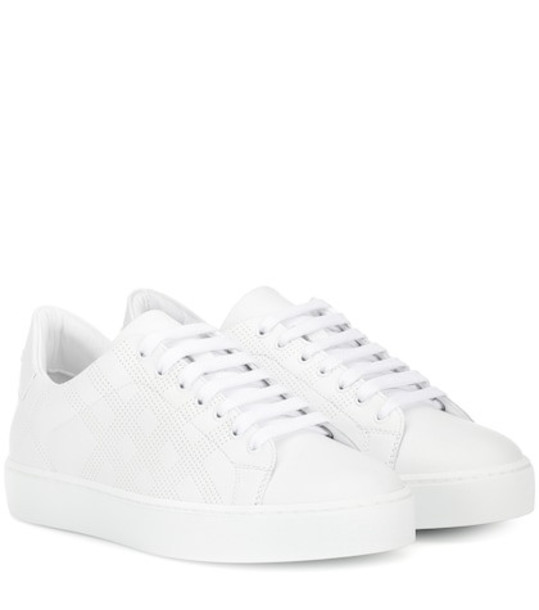 Burberry Leather sneakers in white