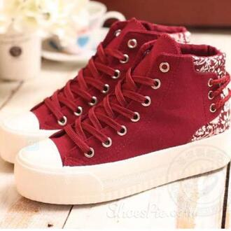shoes red sneakers red shoes red sneakers burgundy
