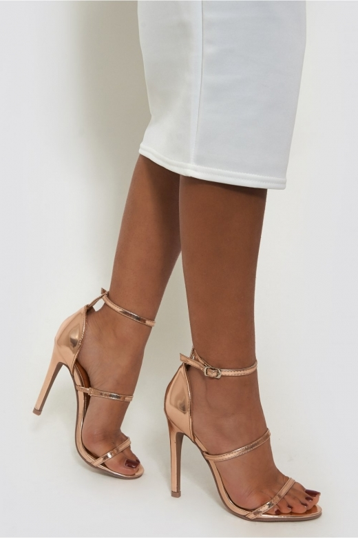 Gold Strappy Heels - from The Fashion Bible UK