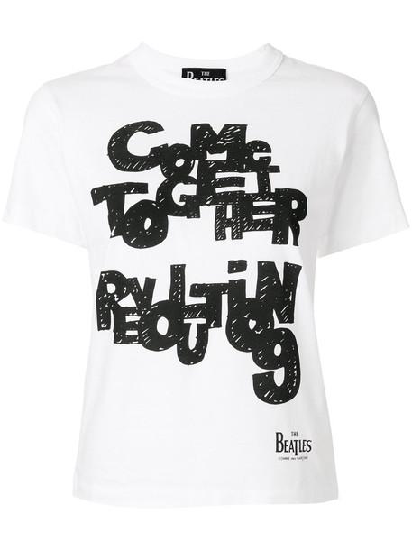 Comme Des Garçons Play - The Beatles T-shirt - women - Cotton - XS, White, Cotton
