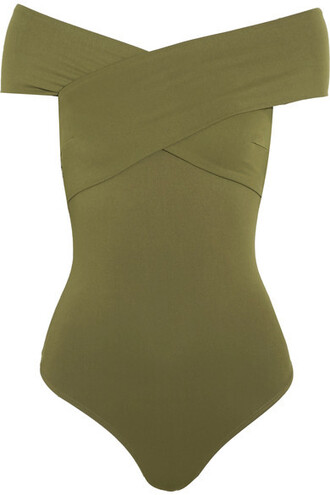 bodysuit green army green underwear