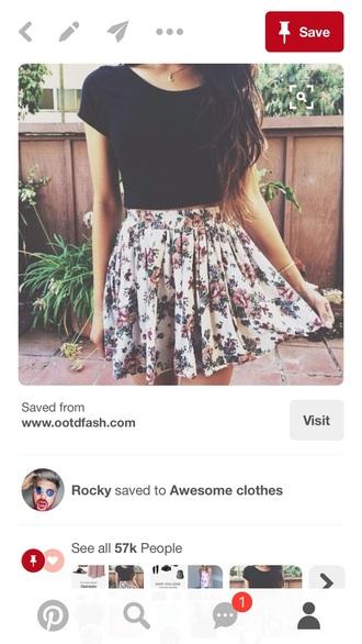 skirt floral skater skirt