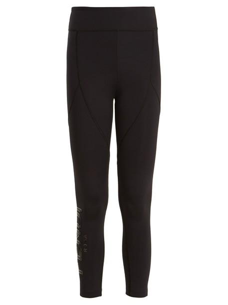 Fendi leggings cropped print black pants