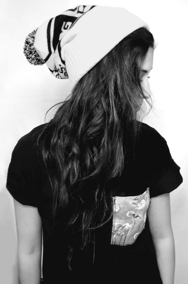 t-shirt skater skirt skater grunge dope urban streetwear swag t-shirt black flamingo flamingo hat
