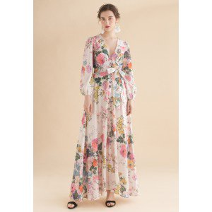 Only In Dreams Floral Button Down Maxi Dress